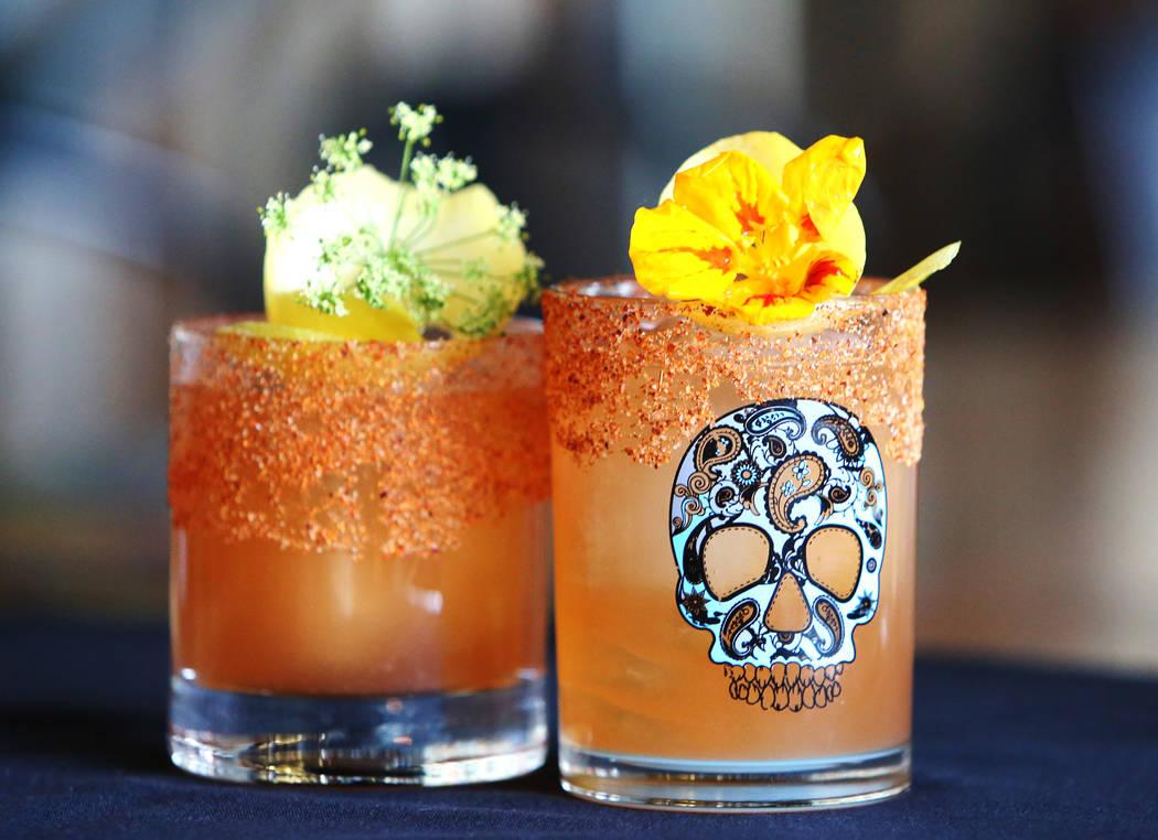 A cocktail called No Tajin in The Machine is displayed at Flock and Fowl restaurant on Monday, May 7, 2018, in Las Vegas. Bizuayehu Tesfaye/Las Vegas Review-Journal @bizutesfaye