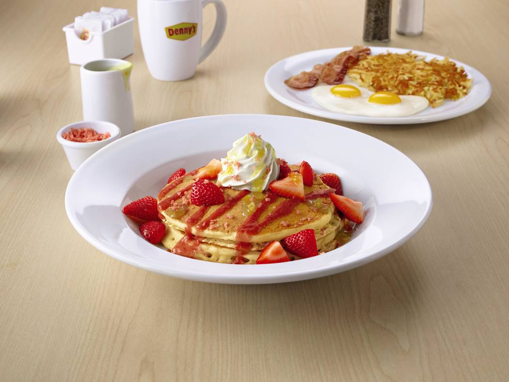 """A new menu at Denny's inspired by """"Solo"""" A Star Wars Story"""" includes Co-Reactor Pancakes with pop rocks, the Lightspeed Slam, the Two Moons Skillet, and a Blaster Fire Burger."""
