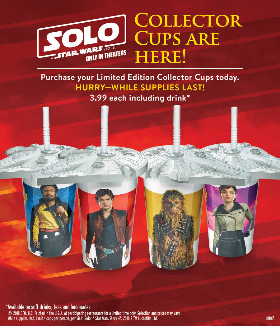 "A new menu at Denny's inspired by ""Solo"" A Star Wars Story"" includes Co-Reactor Pancakes with pop rocks, the Lightspeed Slam, the Two Moons Skillet, and a Blaster Fire Burger."