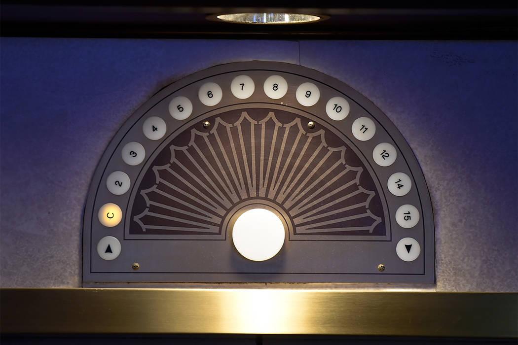 A floor indicator atop an elevator door. (Las Vegas Review-Journal file)