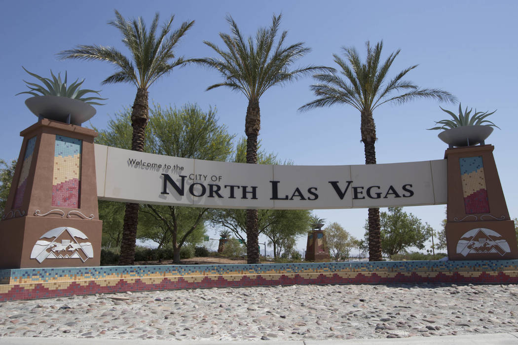 The Welcome to the City of North Las Vegas Sign is seen on Thursday, June 23, 2016. Richard Brian/Las Vegas Review-Journal