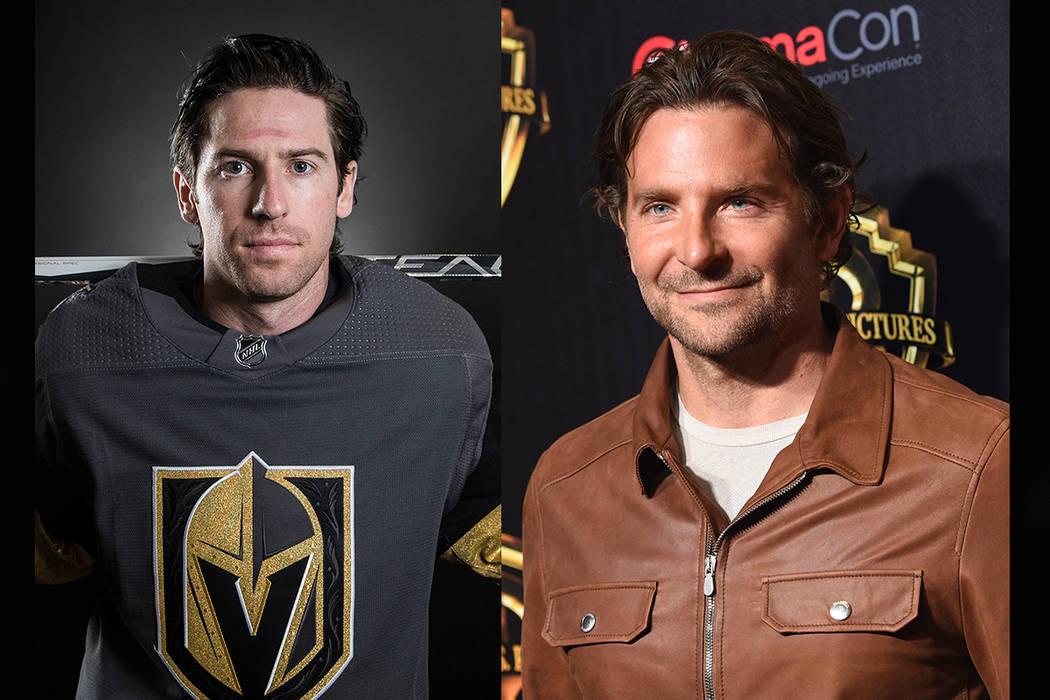 Golden Knights forward James Neal (left), Bradley Cooper (Benjamin Hager/Las Vegas Review-Journal, AP)