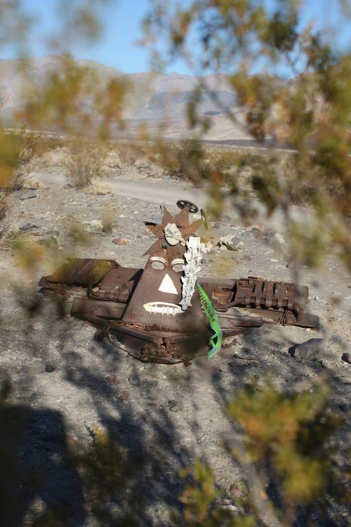 Metal sculpture art at Saline Valley Hot Springs in Death Valley National Park. (J. Emilio Flores)