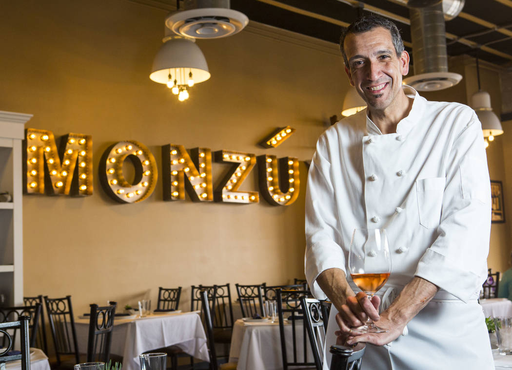 Chef Giovanni Mauro at Pizzeria Monzu, 6020 W. Flamingo Road, in Las Vegas on Saturday, May 5, 2018. Chase Stevens Las Vegas Review-Journal @csstevensphoto