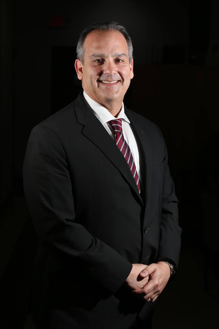 Jesus Jara, superintendent candidate for Clark County School District, at the Edward A. Greer Education Center in Las Vegas, Friday, April 27, 2018. Erik Verduzco Las Vegas Review-Journal @Erik_Ve ...