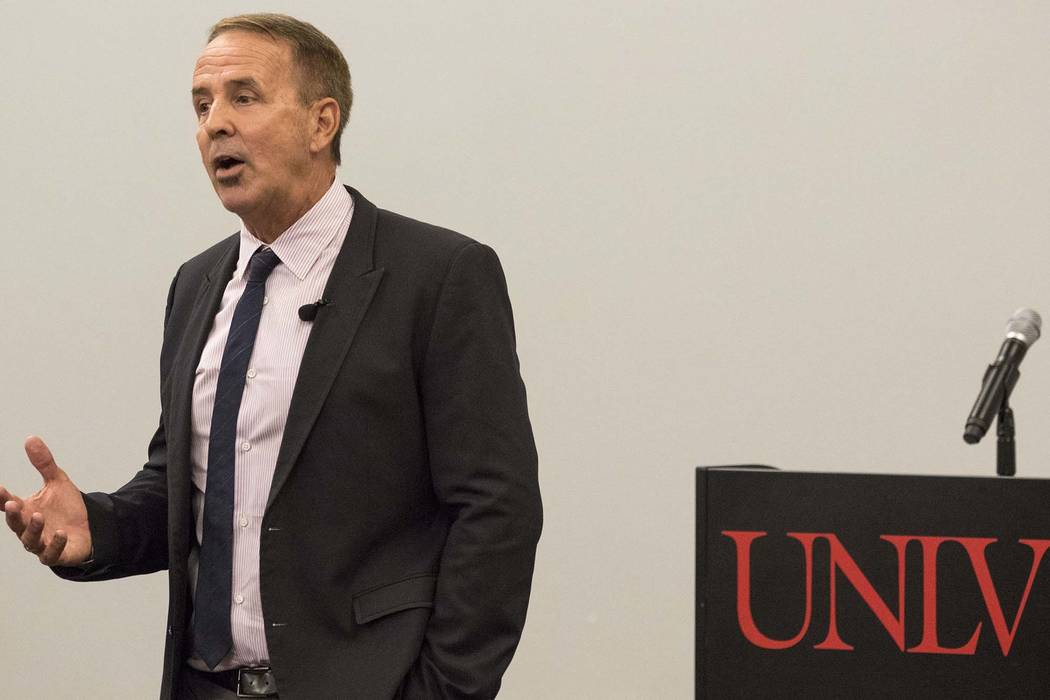 Dr. Thom Reilly at the Nevada System of Higher Education chancellor forum at the UNLV Student Union on Thursday, June 21, 2017. Richard Brian Las Vegas Review-Journal @vegasphotograph
