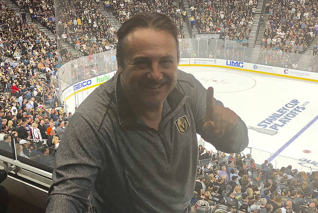 Vegas Golden Knights minority owner Gavin Maloof has one thing in mind at T-Mobile Arena on Friday night: To win a Stanley Cup. (John Katsiometes/Las Vegas Review-Journal) @JohnnyKats