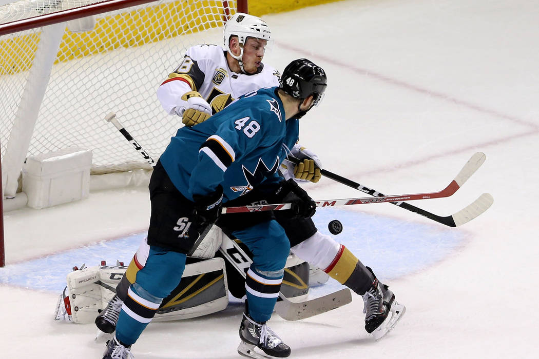 Knights hold off Sharks, lead series 3-2