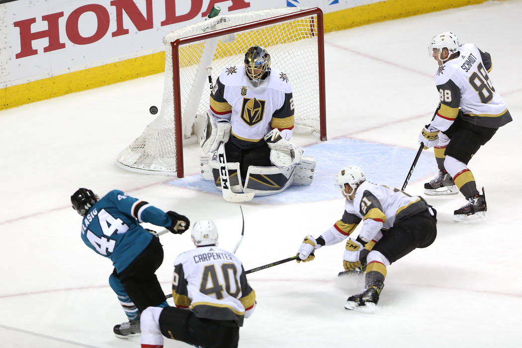 Expansion team Vegas Golden Knights top Sharks to make NHL conference final