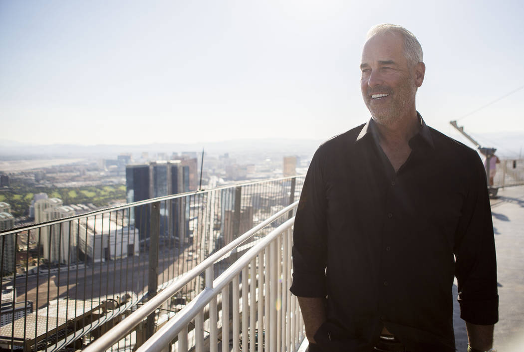 Golden Entertainment Chairman and CEO Blake Sartini Tuesday, Oct 31, 2017, in Las Vegas, on top of the Stratosphere Tower. Elizabeth Brumley Las Vegas Review-Journal @EliPagePhoto