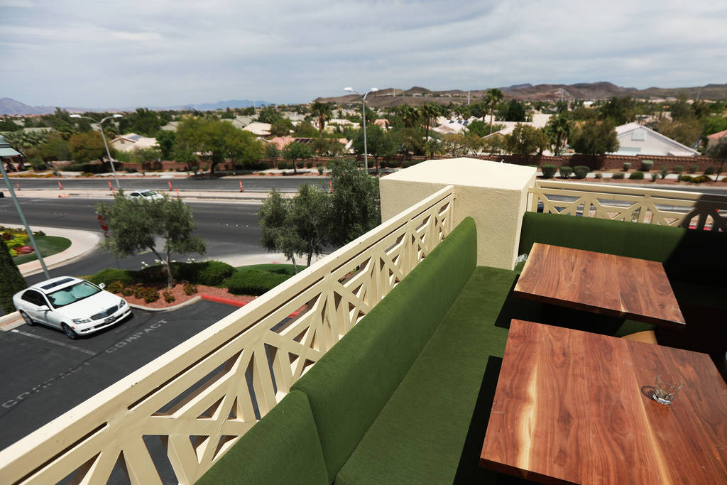A view of the patio at The Stove, which will offer a main dining room, a Coffee Chill room and a Twisted Tea Room, in Henderson, Nevada on Sunday, May 6, 2018. Andrea Cornejo Las Vegas Review-Jour ...