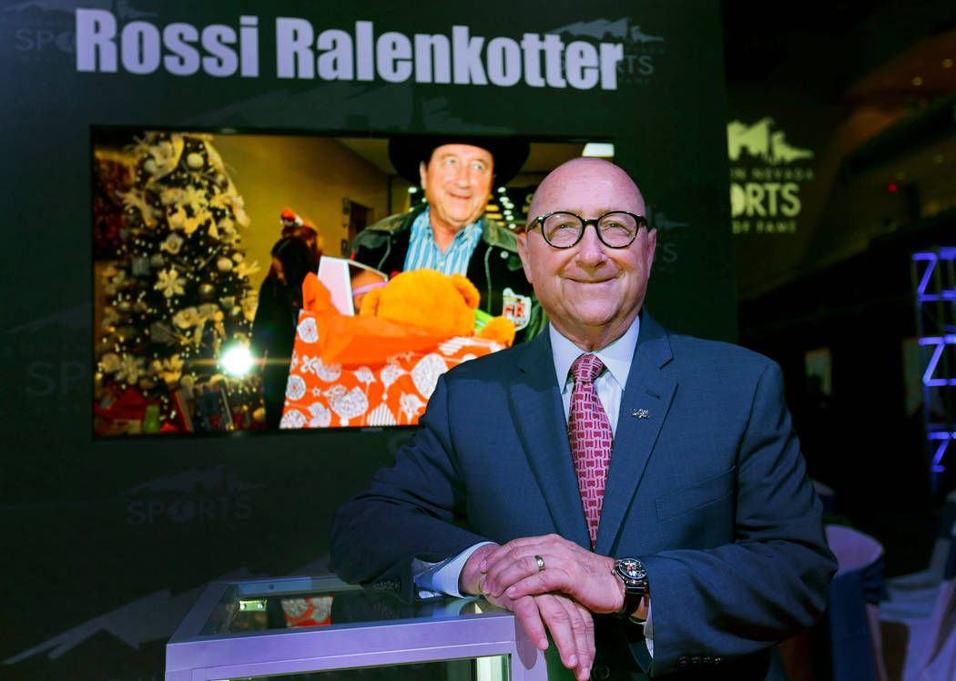 Rossi Ralenkotter before the Southern Nevada Sports Hall of Fame ceremony at Orleans Arena in Las Vegas, Friday, May 11, 2018. Ralenkotter was one of the 2018 inductees into the Southern Nevada S ...