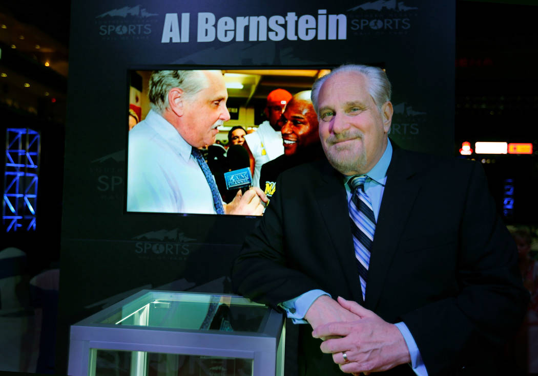 Al Bernstein before the Southern Nevada Sports Hall of Fame ceremony at Orleans Arena in Las Vegas, Friday, May 11, 2018. Bernstein was one of the 2018 inductees into the Southern Nevada Sports Ha ...