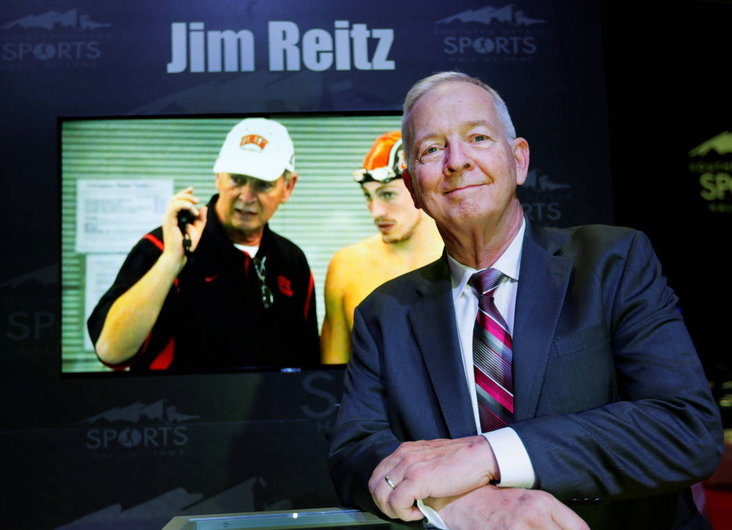 Jim Reitz before the Southern Nevada Sports Hall of Fame ceremony at Orleans Arena in Las Vegas, Friday, May 11, 2018. Reitz was one of the 2018 inductees into the Southern Nevada Sports Hall of ...