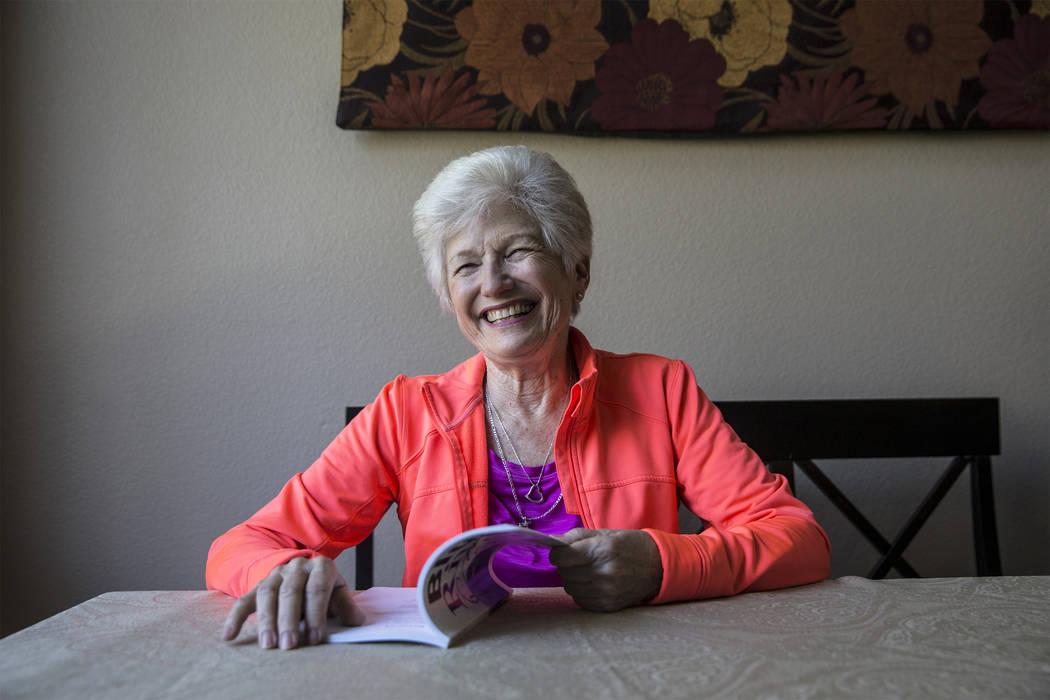 Writer/advocate Nancy Nelson, 74, was diagnosed with early-onset Alzheimer's disease in 2013 and attributes much of her continuing health to diet, exercise and a positive attitude. (Benjamin Hager ...