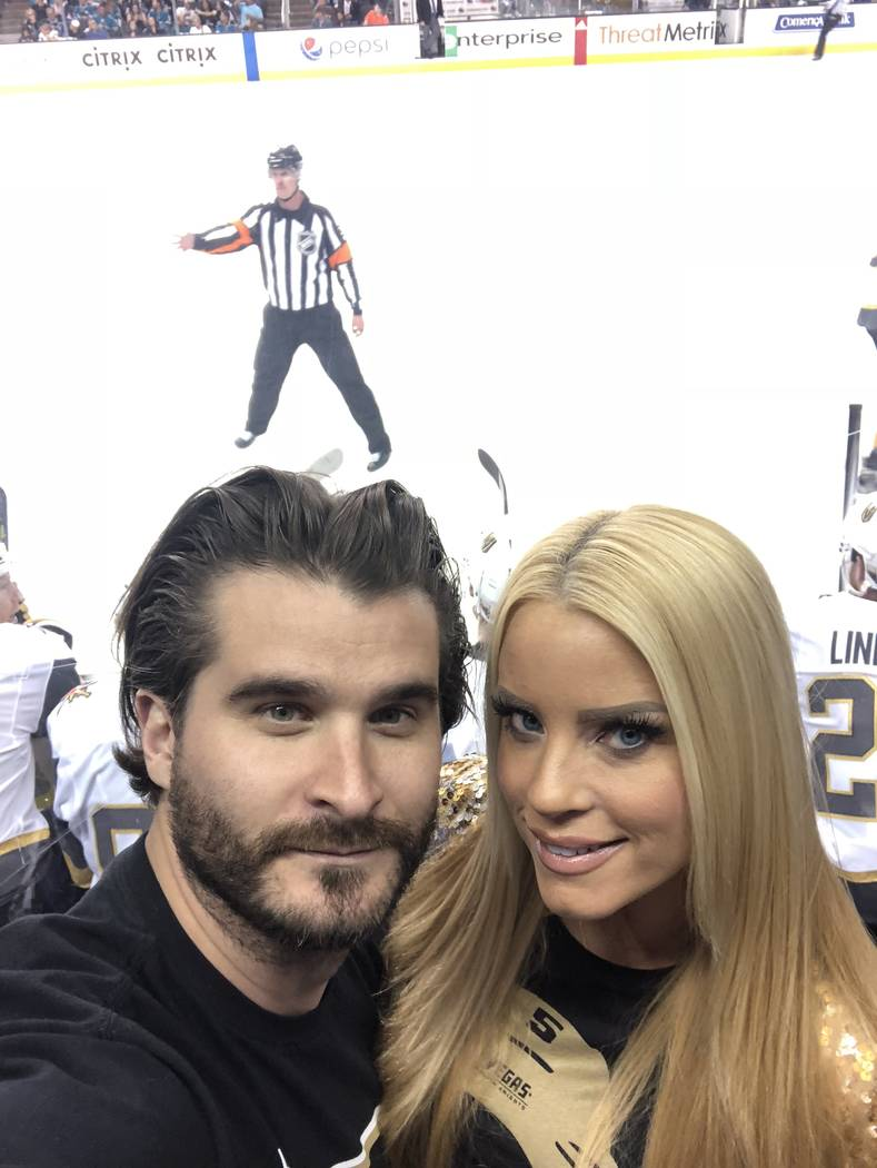 Jon and Ruth Gray are shown in a selfie at SAP Center in San Jose on Sunday, May 6, 2018. (Jon Gray)