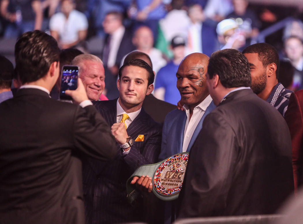 Mike Tyson and fans before Floyd Mayweather Jr. takes on Conor McGregor at T-Mobile Arena, Saturday, Aug. 26, 2017, in Las Vegas. Benjamin Hager Las Vegas Review-Journal