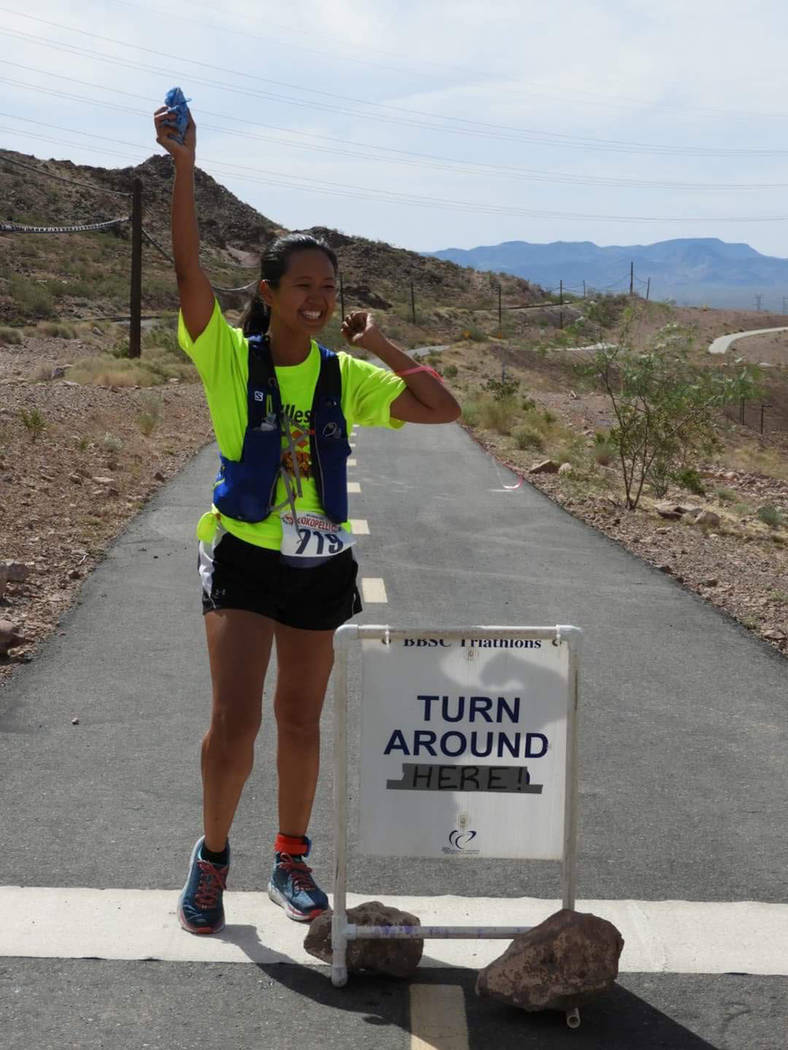 Terri Rupp, president of the National Federation of the Blind of Nevada, is training for the Rock 'n' Roll Marathon on the Strip. Achilles International assists visually impaired runners in their ...