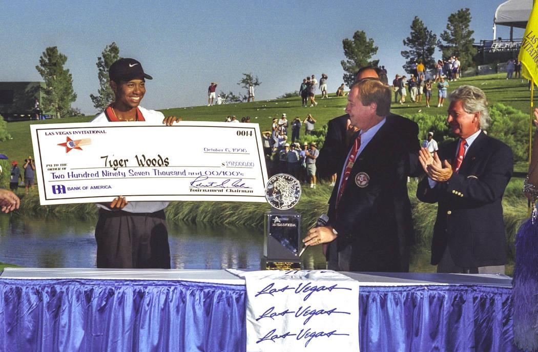 Las Vegas, NV - 10/6/96:Tiger Woods winning the TPC - Las Vegas Invitational. Las Vegas Invitational Tiger Woods 10/6/1996. Rossi Ralenkotter