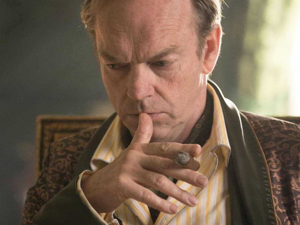 "Hugo Weaving as David Melrose in Showtime's ""Patrick Melrose."" (Justin Downing/Showtime)"