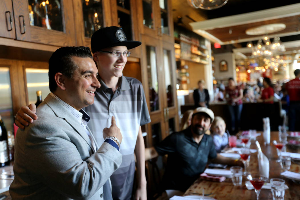 Buddy Valastro, left, visits with Michael Laliberte, 14, of Canada at Buddy V's Ristorante at The Venetian during Vegas Uncork'd Friday, May 11, 2018. K.M. Cannon Las Vegas Review-Journal @KMCanno ...