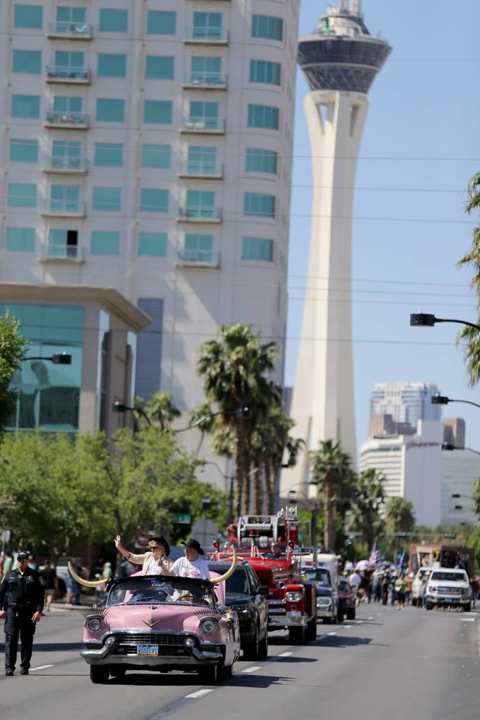 Las Vegas Mayor Carolyn Goodman and Former Las Vegas Mayor Oscar Goodman in the Helldorado Days parade in downtown Las Vegas Saturday, May 12, 2018. K.M. Cannon Las Vegas Review-Journal @KMCannonPhoto