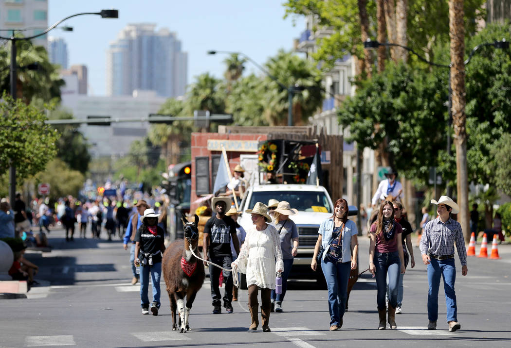 The Bonnie Springs Ranch entry in the Helldorado Days parade in downtown Las Vegas Saturday, May 12, 2018. K.M. Cannon Las Vegas Review-Journal @KMCannonPhoto