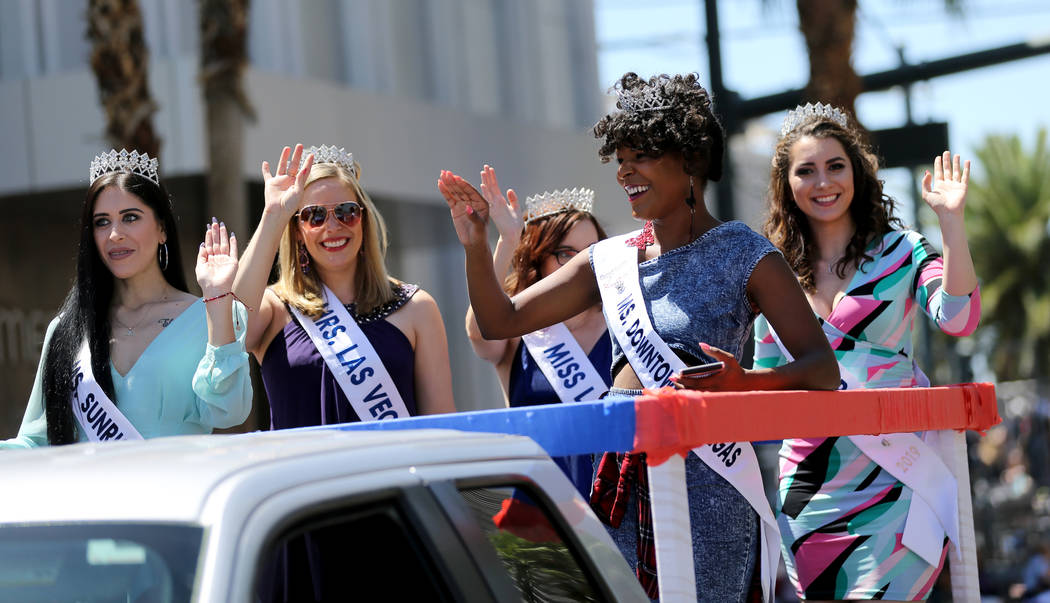 Miss United States of America's Miss Las Vegas entry in the Helldorado Days parade in downtown Las Vegas Saturday, May 12, 2018. K.M. Cannon Las Vegas Review-Journal @KMCannonPhoto