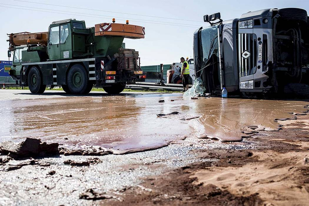 Tanker Full of Chocolate Spills All Over Highway