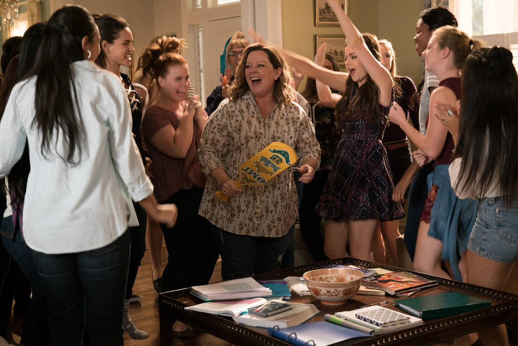 "(L-R) ADRIA ARJONA as Amanda, JESSIE ENNIS as Debbie, MELISSA McCARTHY as Deanna and MOLLY GORDON as Maddie in the comedy ""LIFE OF THE PARTY,"" (Hopper Stone/Warner Bros.)"