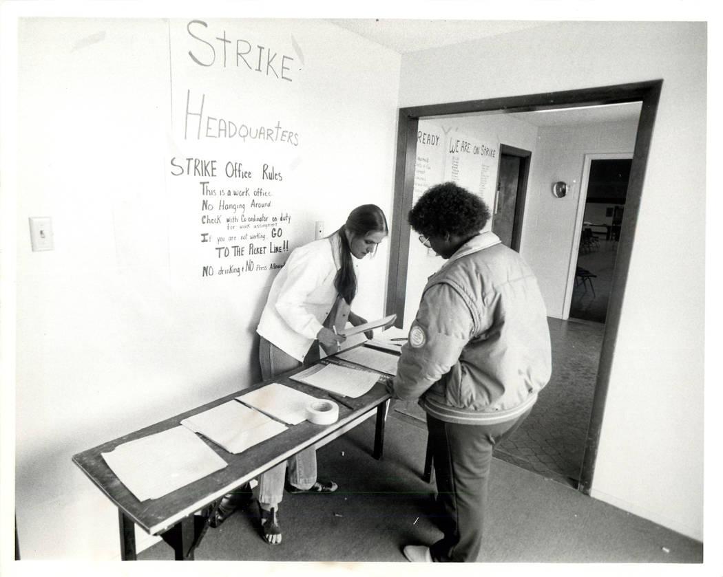 Labor: Culinary Union Strike 1984 - 1984 Culinary Union Hall. (Wayne Kodey/Las Vegas Review-Journal)
