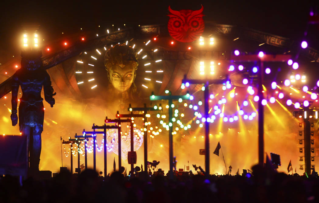 The Kinetic Field stage during the first day of the Electric Daisy Carnival at the Las Vegas Motor Speedway on Saturday, June 17, 2017. Chase Stevens Las Vegas Review-Journal @csstevensphoto