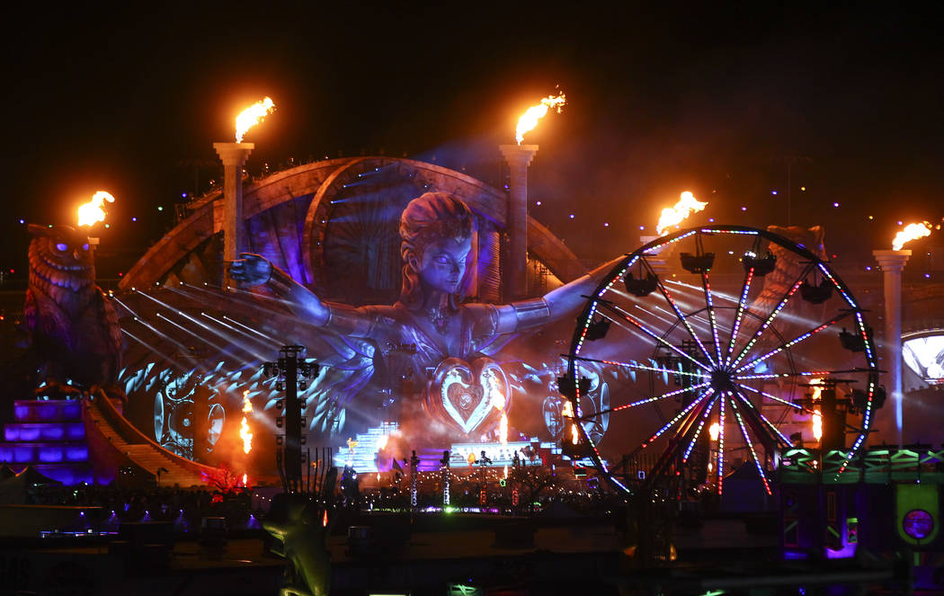 The Kinetic Field stage during the last day of the Electric Daisy Carnival at the Las Vegas Motor Speedway on Sunday, June 18, 2017. Chase Stevens Las Vegas Review-Journal @csstevensphoto