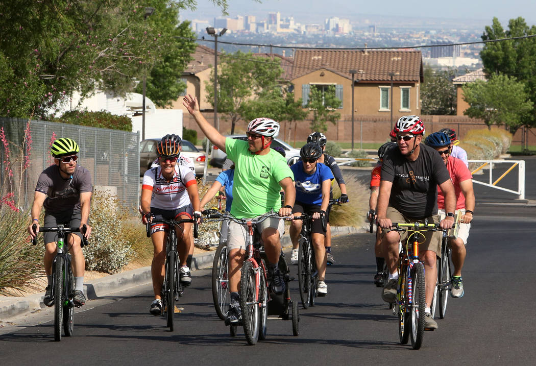 """Riders make their way to Robert L. Taylor Elementary School to deliver books during the eighth annual """"Ride for Reading"""" event on Friday, May 11, 2018, in Henderson. Bizuayehu Tesfay ..."""
