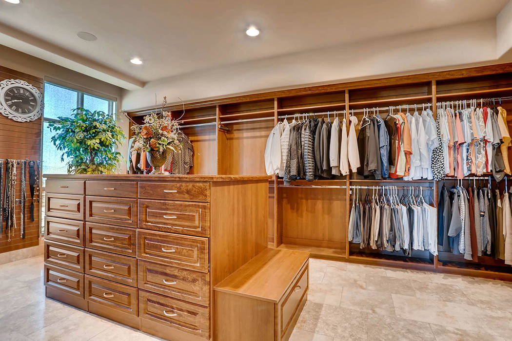 The closet is past the master bath. (Char Luxury Real Estate)