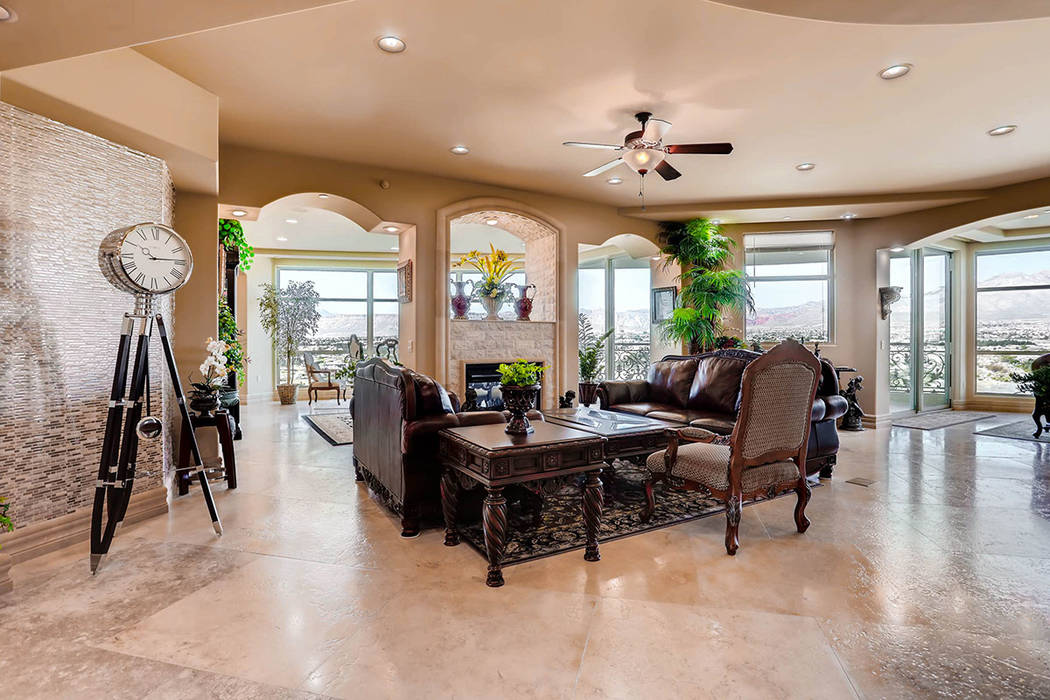 The home has three large balconies that showcase views of the Las Vegas Valley. (Char Luxury Real Estate)