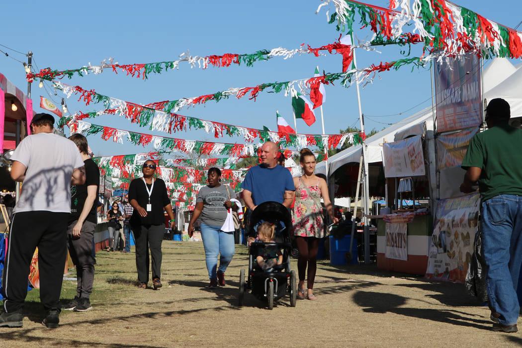San Gennaro Feast goers, Wednesday, May 10, 2017. Gabriella Benavidez Las Vegas Review-Journal @latina_ish