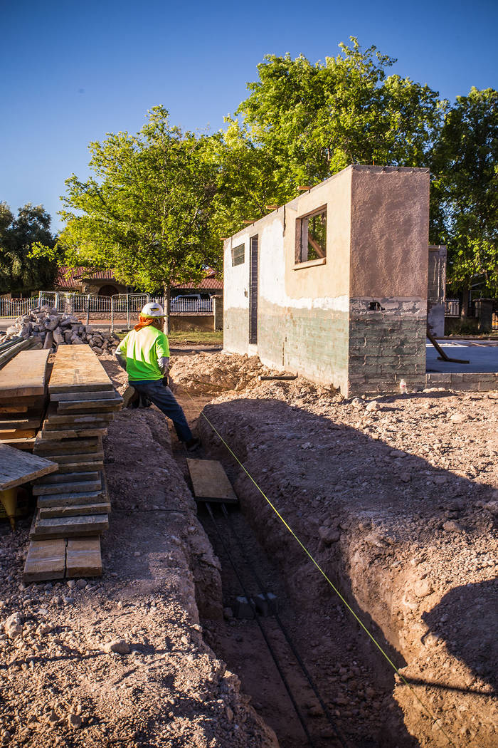 A crew member works on the 2019 New American Remodel home, which is expected to be completed in December. (Tonya Harvey Real Estate Millions)