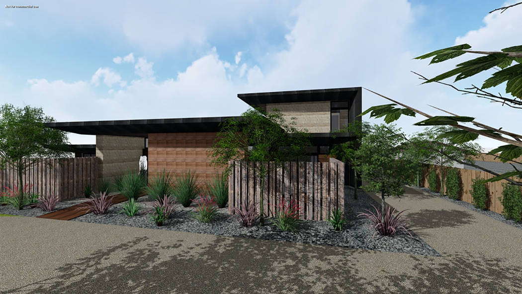 An artist's rendering of what the home near downtown Las Vegas on Pinto Lane near Rancho Boulevard will look like after its remodel. (Studio g Architecture)