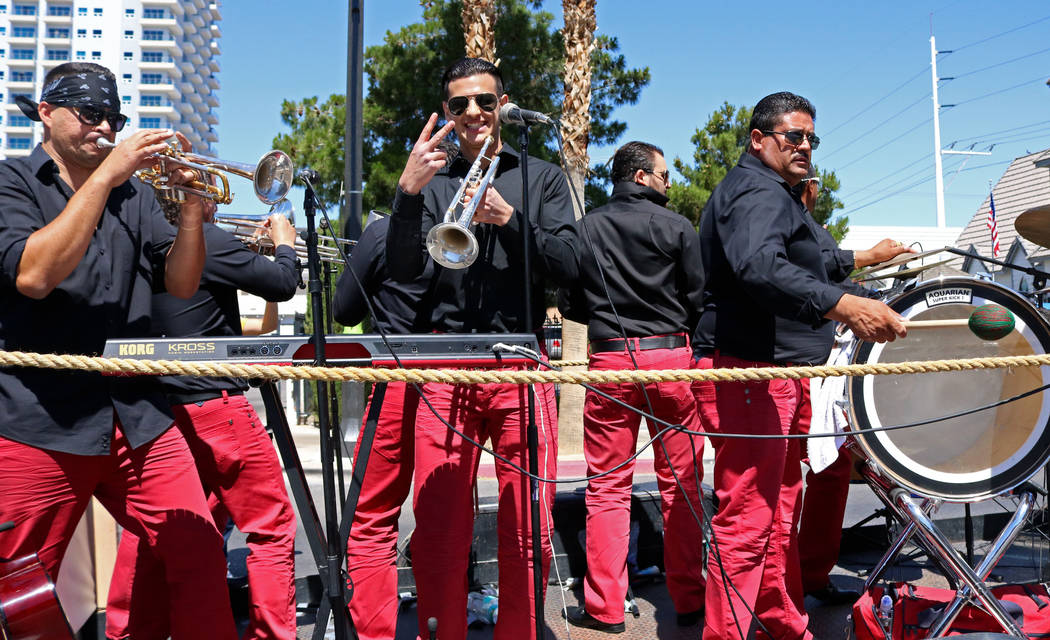 Band members from Los Etichones perform during the Helldorado Days Parade in downtown Las Vegas, Saturday, May 13, 2017. Gabriella Benavidez Las Vegas Review-Journal @latina_ish
