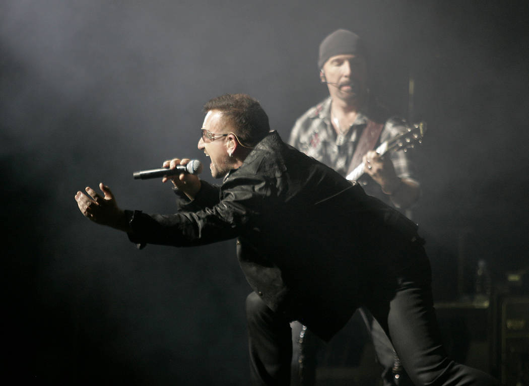 U2 plays at Sam Boyd Stadium in Las Vegas on Oct. 23, 2009. (Las Vegas Review-Journal)