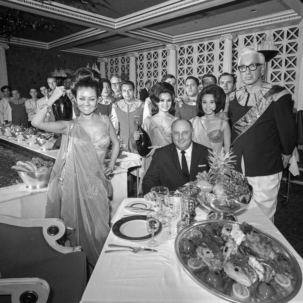Jay Sarno at Bacchanal Room on Nov. 24, 1967, in Caesars Palace. (Las Vegas News Bureau)