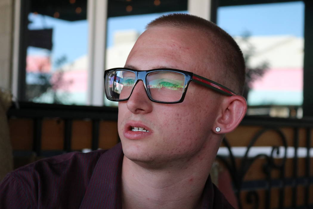 Former Westcare client Christian Hunt, 21, in Las Vegas, Thursday, May 10, 2018. Hunt was sent to Westcare in September after he ended up on drugs and in the hospital. If it weren't for the nonpro ...