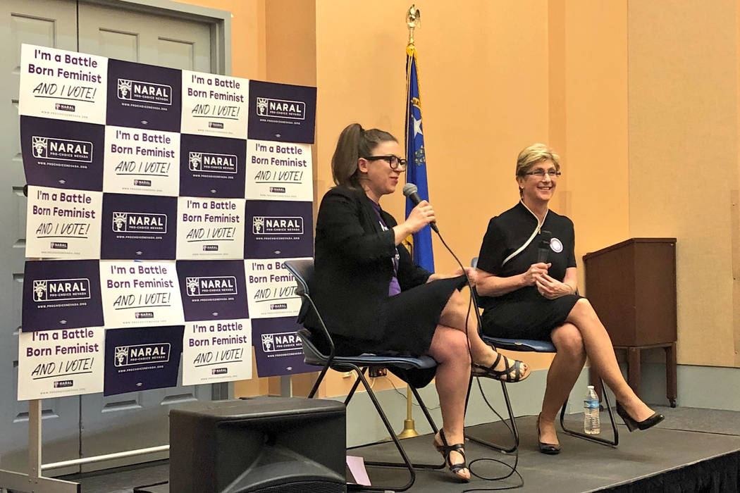 Clark County Commissioner and gubernatorial candidate Chris Giunchigliani answers questions about reproductive freedom at a forum Thursday held by NARAL Pro-Choice Nevada.