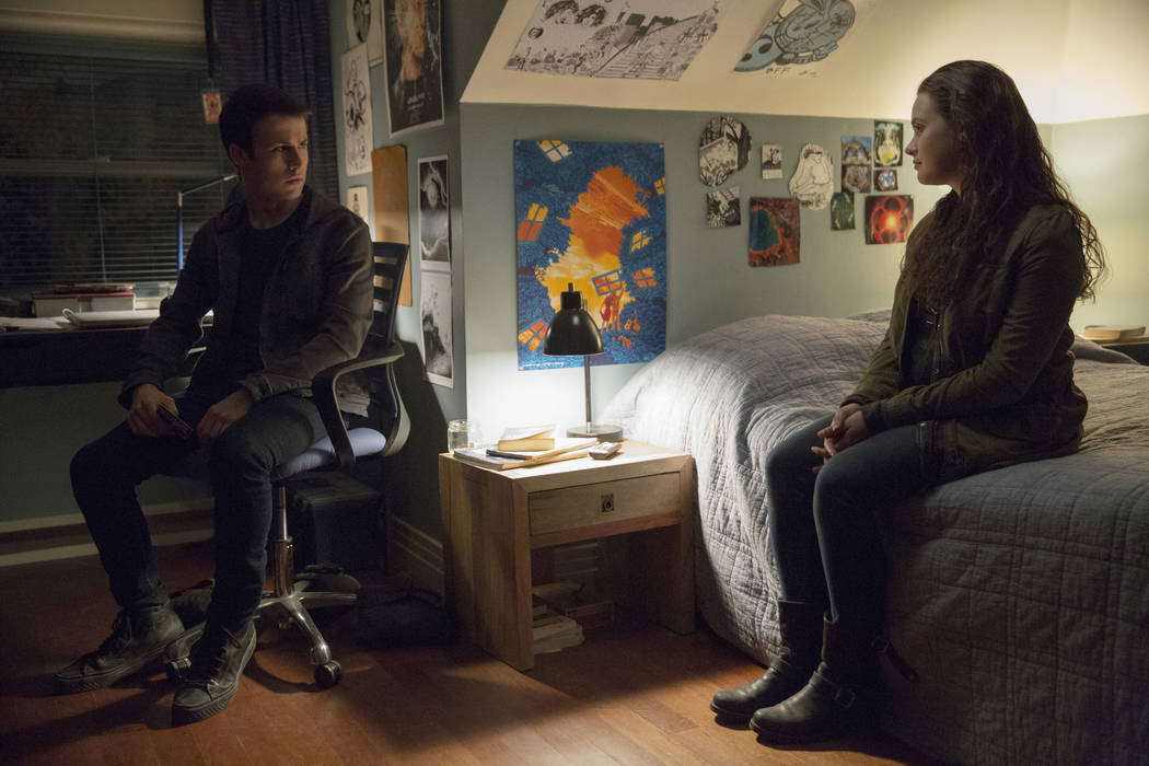 "Dylan Minnette and Katherine Langford star in ""13 Reasons Why."" (Beth Dubber/Netflix)"