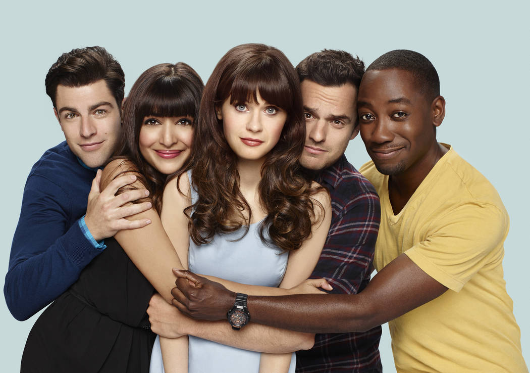 NEW GIRL: L-R: Max Greenfield, Hannah Simone, Zooey Deschanel, Jake Johnson and Lamorne Morris. NEW GIRL premieres Tuesday, Sept. 20 (8:30-9:00 PM ET/PT) on FOX. ©2016 Fox Broadcasting Co ...