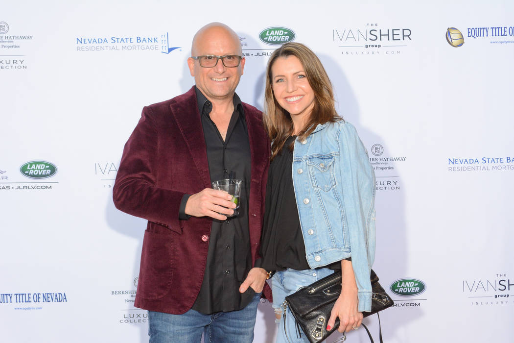 Ivan Sher with his wife, Jennifer Sher, an interior designer at the launch party for The Ivan Sher Group. (The Ivan Sher Group)