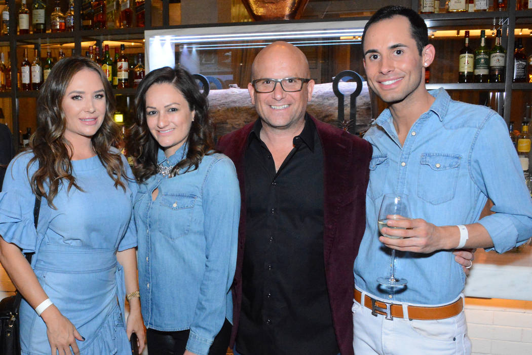 From left, Ivan Sher Group executives Nicole Tomlinson, Lindsay Presswood, Ivan Sher and Austin Sherwood at The Ivan Sher Group launch party. (The Ivan Sher Group)