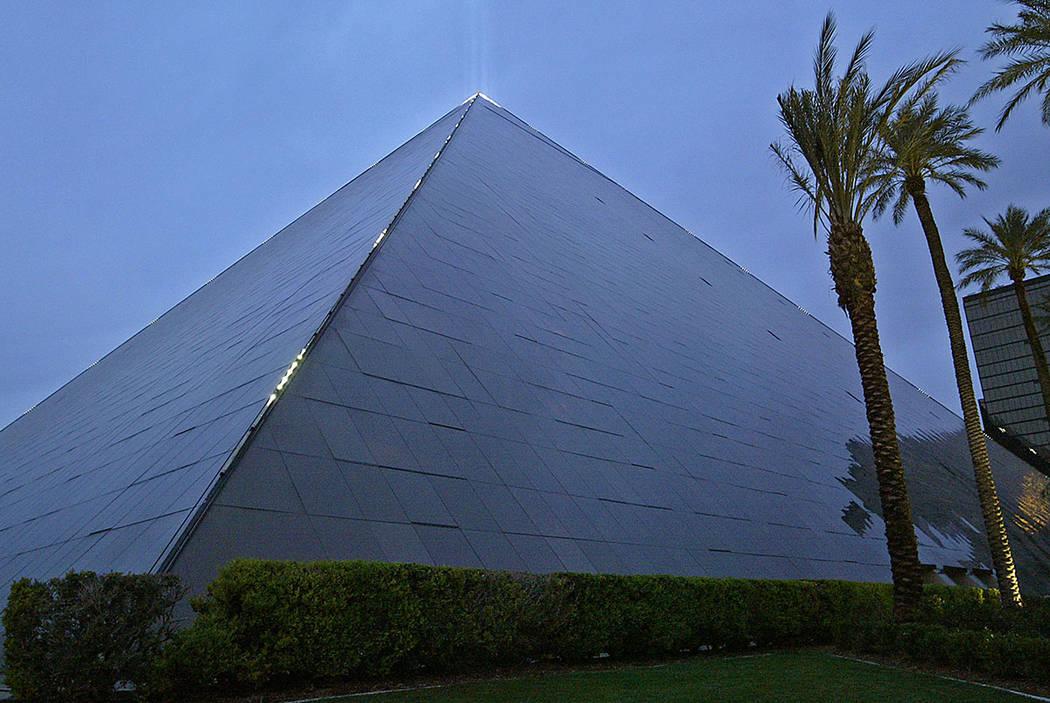The Luxor resort-casino on the Las Vegas Strip (Las Vegas Review-Journal)