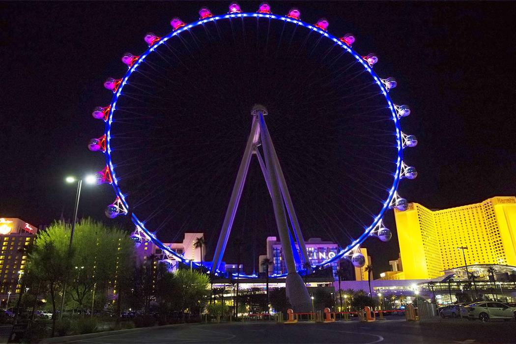 Plans to build a 630-foot tall Ferris wheel in New York City remain on hold. If it's ever built, that Ferris wheel will stand 80 feet taller than the 550-foot High Roller in Las Vegas. (Benjamin H ...